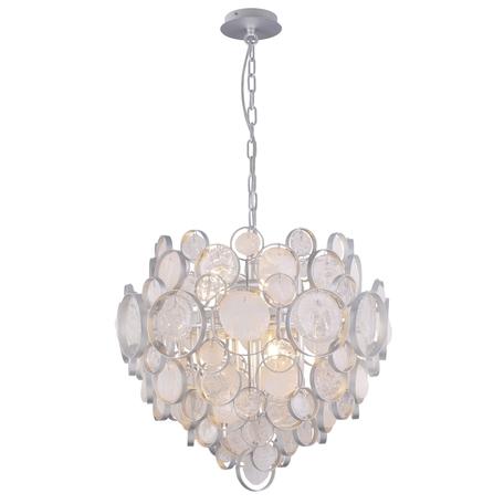 Подвесная люстра Crystal Lux DESEO SP6 D460 SILVER 1561/206, 6xG9x60W, серебро, металл, стекло
