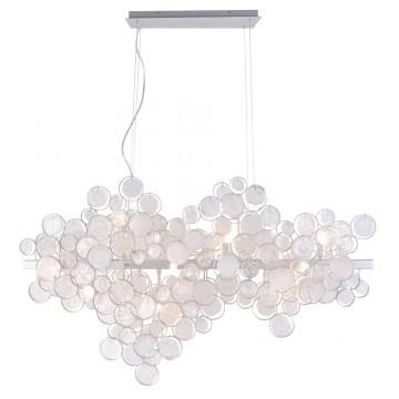 Подвесной светильник Crystal Lux DESEO SP12 L1000 SILVER 1561/212, 12xG9x60W, серебро, металл, стекло