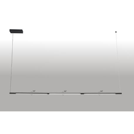 Подвесной светодиодный светильник Crystal Lux Largo 0780/233, LED 33W, 3000K (теплый), черный, металл, металл со стеклом/пластиком