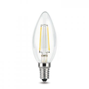 Филаментная светодиодная лампа Gauss 103801105 свеча E14 5W, 2700K (теплый) CRI>90 185-265V, гарантия 3 года - миниатюра 2