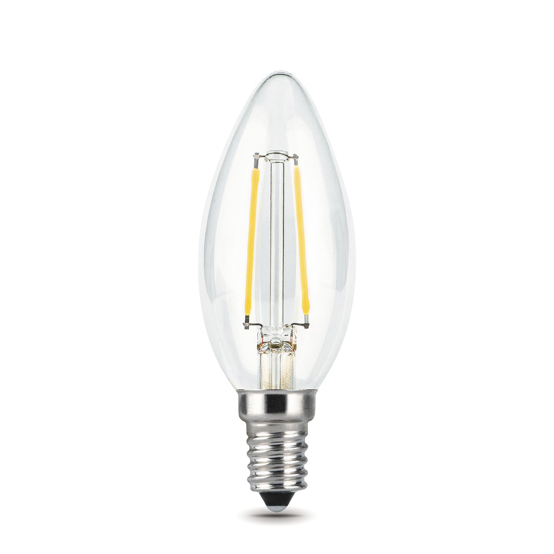 Филаментная светодиодная лампа Gauss 103801105 свеча E14 5W, 2700K (теплый) CRI>90 185-265V, гарантия 3 года - фото 2