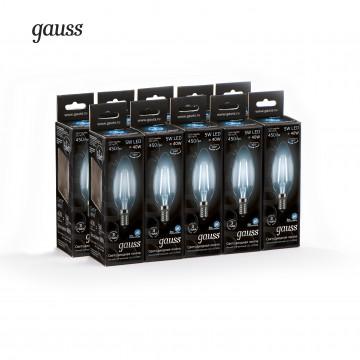 Филаментная светодиодная лампа Gauss 103801205 свеча E14 5W, 4100K (холодный) CRI>90 185-265V, гарантия 3 года - миниатюра 3