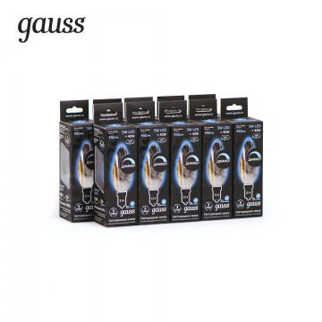 Филаментная светодиодная лампа Gauss 103801205 свеча E14 5W, 4100K (холодный) CRI>90 185-265V, гарантия 3 года - миниатюра 9