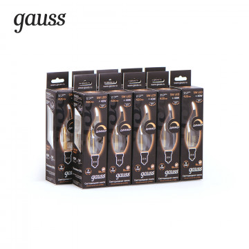Филаментная светодиодная лампа Gauss 104801105, сталь - миниатюра 4