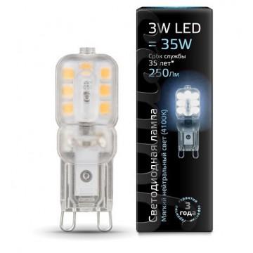 Светодиодная лампа Gauss 107409203 JC G9 3W 250lm 4100K (холодный) CRI>90 220-240V, недиммируемая, гарантия 1 год