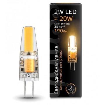 Светодиодная лампа Gauss 107707102 JC G4 2W 190lm 2700K (теплый) CRI>90 220-240V, недиммируемая, гарантия 1 год