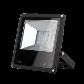 Светодиодный прожектор Gauss Elementary 613100320, IP65, LED 20W 6500K 1380lm CRI>75, черный, металл, металл со стеклом