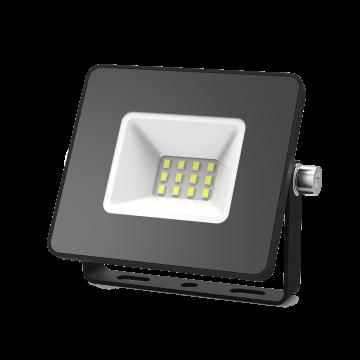 Светодиодный прожектор Gauss Elementary 613100310, IP65, LED 10W 6500K 700lm CRI>75, черный, металл, металл со стеклом