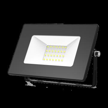 Светодиодный прожектор Gauss Elementary 613100330, IP65, LED 30W 6500K 2100lm CRI>75, черный, металл, металл со стеклом