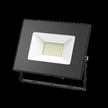 Светодиодный прожектор Gauss Elementary 613100370, IP65, LED 70W 6500K 4600lm CRI>75, черный, металл, металл со стеклом