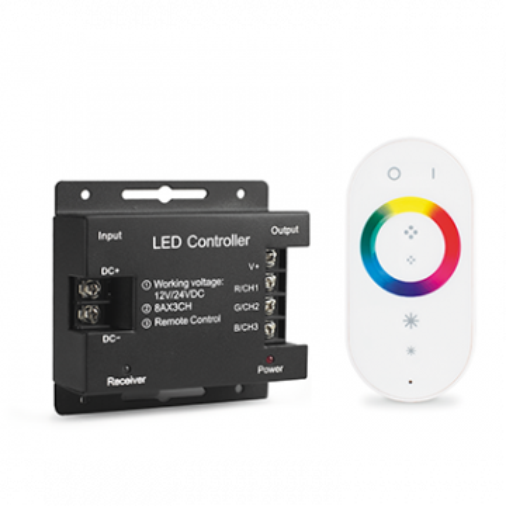RGB-контроллер с пультом дистанционного управления Gauss 201013288, белый, пластик