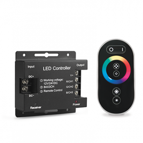 RGB-контроллер с пультом дистанционного управления Gauss 201113288, черный, пластик