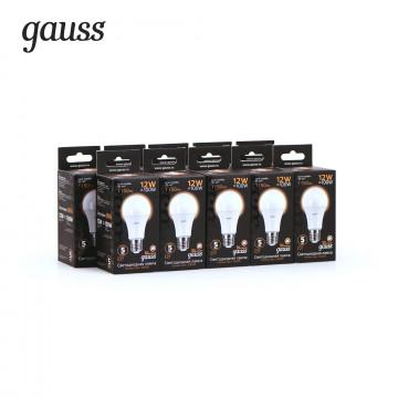 Светодиодная лампа Gauss 102502112 груша E27 12W, 3000K (теплый) CRI>90 150-265V, гарантия 5 лет - миниатюра 6
