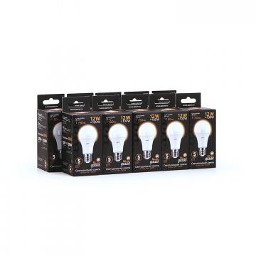 Светодиодная лампа Gauss 102502112 груша E27 12W, 3000K (теплый) CRI>90 150-265V, гарантия 5 лет - миниатюра 7