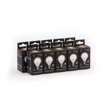 Светодиодная лампа Gauss 105101107 шар малый E14 6,5W, 3000K (теплый) CRI>90 180-240V, гарантия 5 лет - миниатюра 6