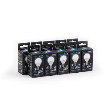 Светодиодная лампа Gauss 105101207 шар малый E14 6,5W, 4100K (холодный) CRI>90 150-265V, гарантия 5 лет - миниатюра 5