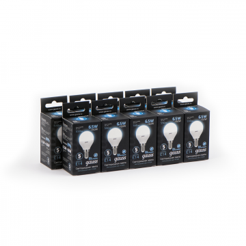 Светодиодная лампа Gauss 105101207 шар малый E14 6,5W, 4100K (холодный) CRI>90 150-265V, гарантия 5 лет - миниатюра 6