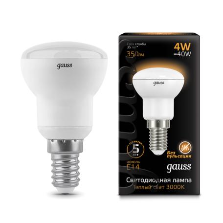 Светодиодная лампа Gauss 106001104 грибок E14 4W, 2700K (теплый) CRI>90 150-265V, гарантия 5 лет