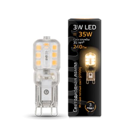 Светодиодная лампа Gauss 107409103 капсульная G9 3W, 2700K (теплый) CRI>90 220-240V, гарантия 1 год