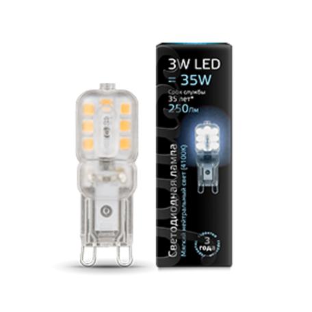 Светодиодная лампа Gauss 107409203 капсульная G9 3W, 4100K (холодный) CRI>90 220-240V, гарантия 1 год