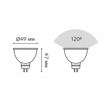Схема с размерами Gauss Elementary 13514