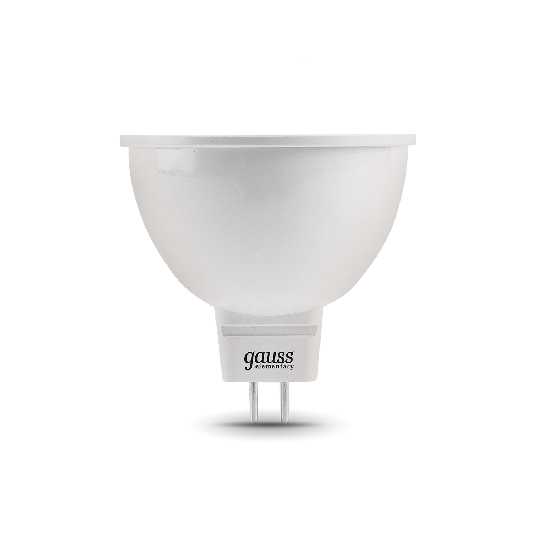 Светодиодная лампа Gauss Elementary 13516 MR16 GU5.3 5,5W, 3000K (теплый) CRI>80 150-265V, гарантия 2 года - фото 2