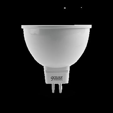 Светодиодная лампа Gauss Elementary 13524 MR16 GU5.3 3,5W, 4100K (холодный) CRI>80 150-265V, гарантия 2 года - миниатюра 2