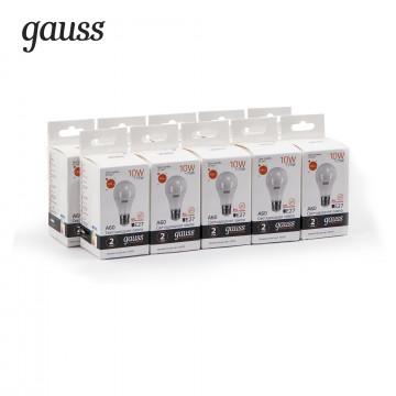 Светодиодная лампа Gauss Elementary 23210 груша E27 10W, 3000K (теплый) CRI>80 150-265V, гарантия 2 года - миниатюра 2