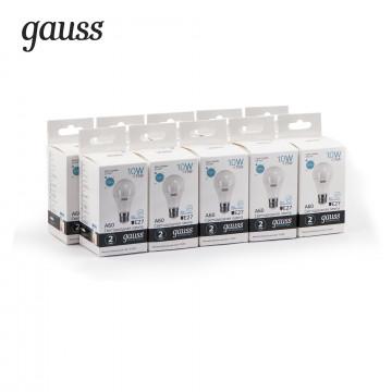 Светодиодная лампа Gauss Elementary 23220 груша E27 10W, 4100K (холодный) CRI>80 150-265V, гарантия 2 года - миниатюра 4