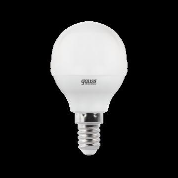 Светодиодная лампа Gauss Elementary 53126 шар малый E14 6W, 4100K (холодный) CRI>80 180-240V, гарантия 2 года - миниатюра 2