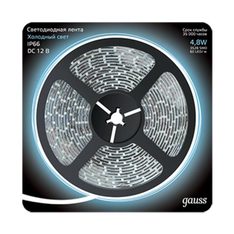Светодиодная лента Gauss 311000305 IP66 SMD 2835 12V гарантия 1 год