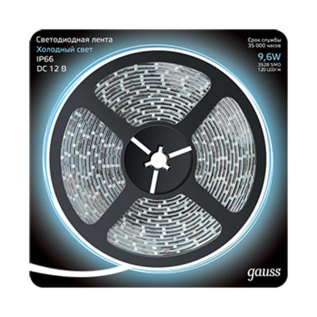 Светодиодная лента Gauss 311000310 IP66 SMD 2835 12V гарантия 1 год