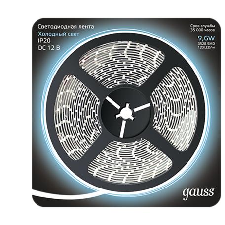 Светодиодная лента Gauss 312000310 SMD 2835 12V гарантия 1 год
