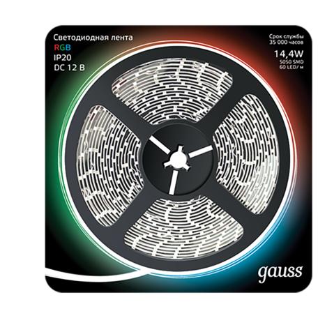 Светодиодная лента Gauss 312000414 SMD 5050 12V гарантия 1 год