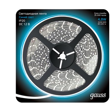 Светодиодная лента Gauss 312000505 SMD 2835 12V гарантия 1 год