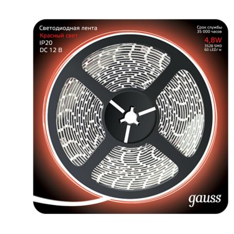 Светодиодная лента Gauss 312000705 SMD 2835 12V гарантия 1 год