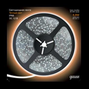Светодиодная лента Gauss 311000105 IP66 SMD 2835 12V гарантия 1 год