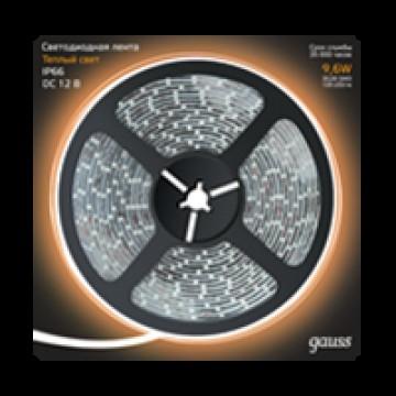 Светодиодная лента Gauss 311000110 IP66 SMD 2835 12V гарантия 1 год