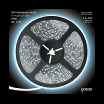 Светодиодная лента Gauss 311000314 IP66 SMD 5050 12V гарантия 1 год