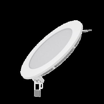 Светодиодная панель Gauss Слим 939111109, LED 9W 2700K 610lm CRI>80, белый, металл с пластиком