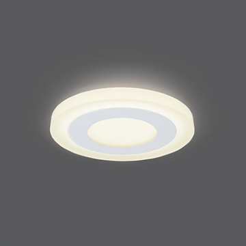Светодиодная панель Gauss Слим BL114, LED 6W 3000K 350lm CRI>80, белый, металл со стеклом/пластиком