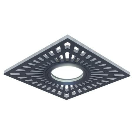 Встраиваемый светильник Gauss Backlight BL126, 1xGU5.3x50W + LED 3W 4000K, черный, черно-белый, металл