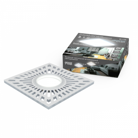 Встраиваемый светильник Gauss Backlight BL128, 1xGU5.3x50W + LED 3W 4000K, белый, металл