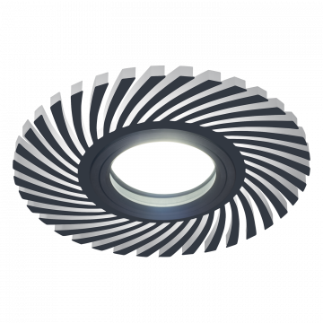 Встраиваемый светильник Gauss Backlight BL132, 1xGU5.3x50W + LED 3W 4000K, черный, черно-белый, металл