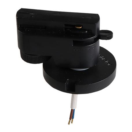 Крепление-адаптер для монтажа светильника на трек Lightstar Asta 592017, черный, металл