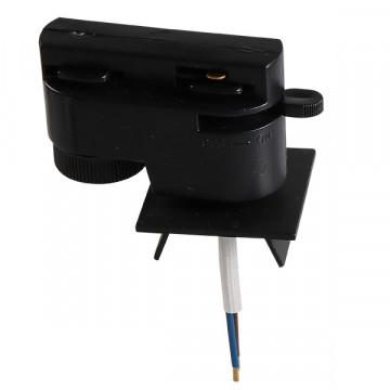 Крепление-адаптер для монтажа светильника на трек Lightstar Asta 592027, черный, металл