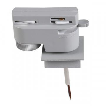 Крепление-адаптер для монтажа светильника на трек Lightstar Asta 592029, серый, металл