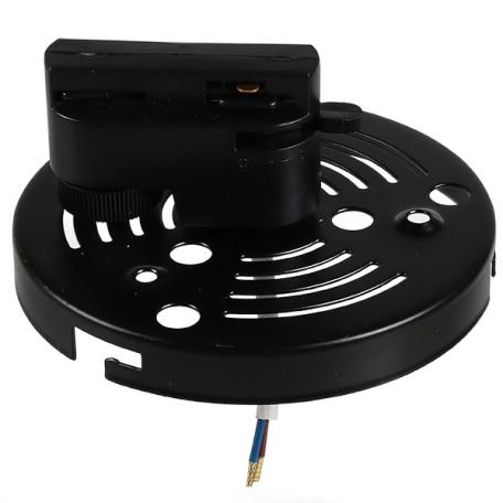 Крепление-адаптер для монтажа светильника на трек Lightstar Asta 592067, черный, металл