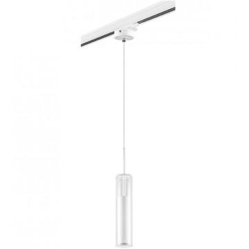 Крепление-адаптер для монтажа светильника на трек Lightstar Barra 594006, белый, пластик