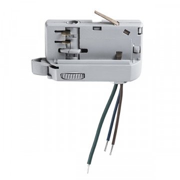 Крепление-адаптер для монтажа светильника на трек Lightstar Barra 594009, серый, пластик